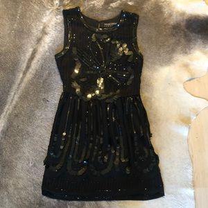 Walter Baker Evening Dress - Small - Black Sequins